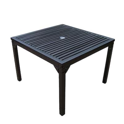 Rochester Hammertone Bronze Steel Outdoor Dining Table