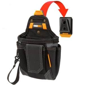 7.5 in. 9-Compartment Warehouse Pouch, Black