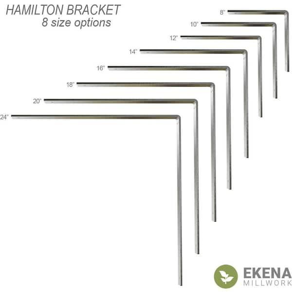 Ekena Millwork 8 In X 2 In X 8 In Steel Unfinished Metal Hamilton Bracket Bktm02x08x08hacrs The Home Depot