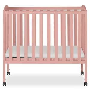 2in1 Dusty Pink Folding Portable Crib