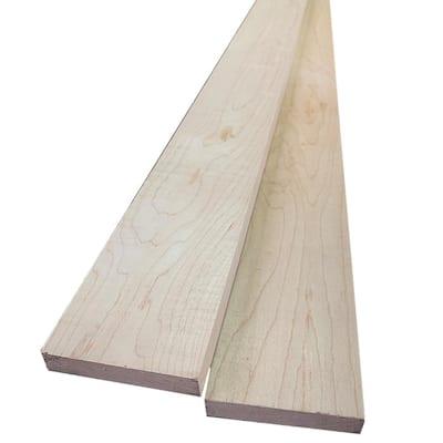 1 in. x 4 in. x 8 ft. Hard Maple S4S Board (2-Pack)