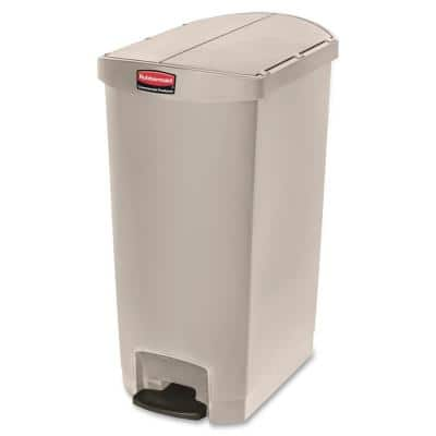 30.8 in. H x 14.7 in. W 18 Gal. Beige End Step Container