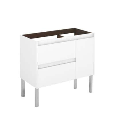 Ambra 35.1 in. W x 17.6 in. D x 32.4 in. H Bath Vanity Cabinet Only in Glossy White