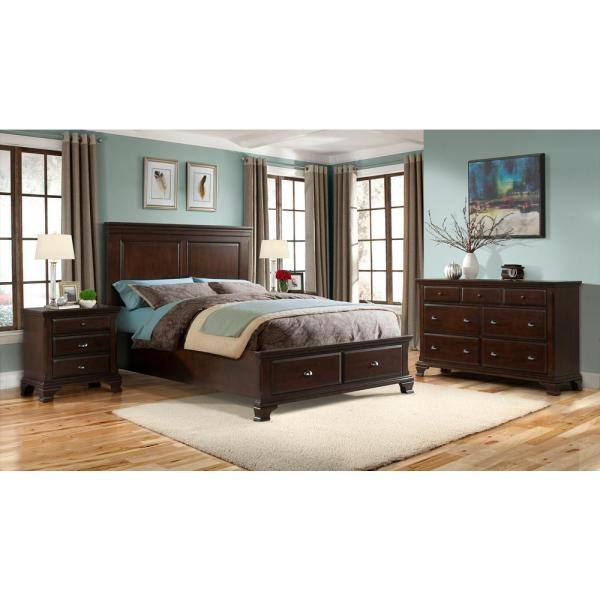 Picket House Furnishings Brinley 3 Drawer Cherry Nightstand Cn600nso The Home Depot