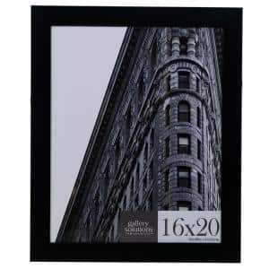 16 in. x 20 in. Black Flat Ridged Poster Picture Frame