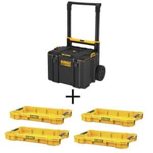 TOUGHSYSTEM 2.0 24 in. Mobile Tool Box with (4) TOUGHSYSTEM 2.0 Shallow Tool Trays