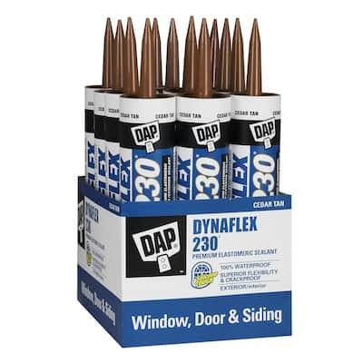Dynaflex 230 10.1 oz. Tan Premium Exterior/Interior Window, Door and Trim Sealant (12-Pack)