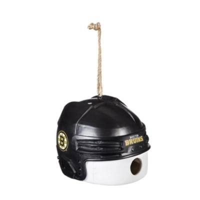 Boston Bruins 6.5 in. x 7.5 in. x 8 in. Polystone Hat/Helmet Ball Birdhouse