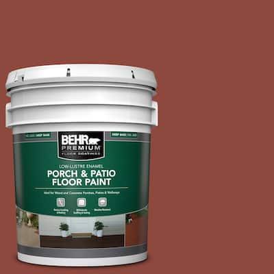 5 gal. #PFC-10 Deep Terra Cotta Low-Lustre Enamel Interior/Exterior Porch and Patio Floor Paint