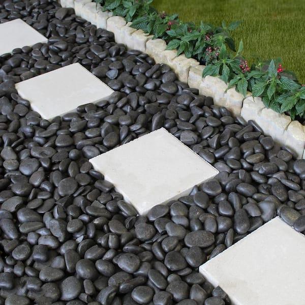 20 Lb Large Black Grade A, White Garden Rocks Home Depot