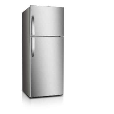 7.0 cu. ft. Frost Free Top Freezer Refrigerator in Stainless Steel Look