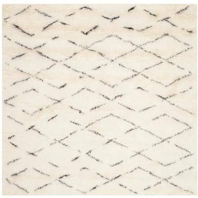 Casablanca Ivory/Brown 8 ft. x 8 ft. Square Geometric Area Rug