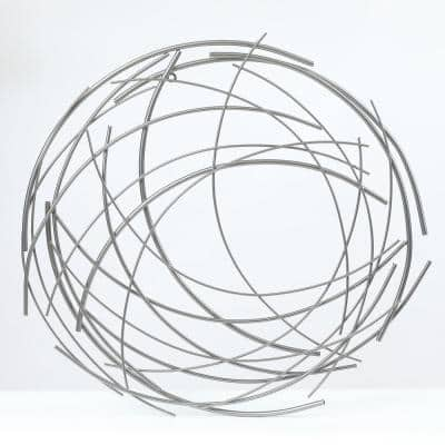 Metal Abstract Sticks Round Wall Decor