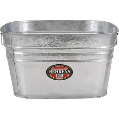 15.5 Gal. Hot Dipped Square Tub