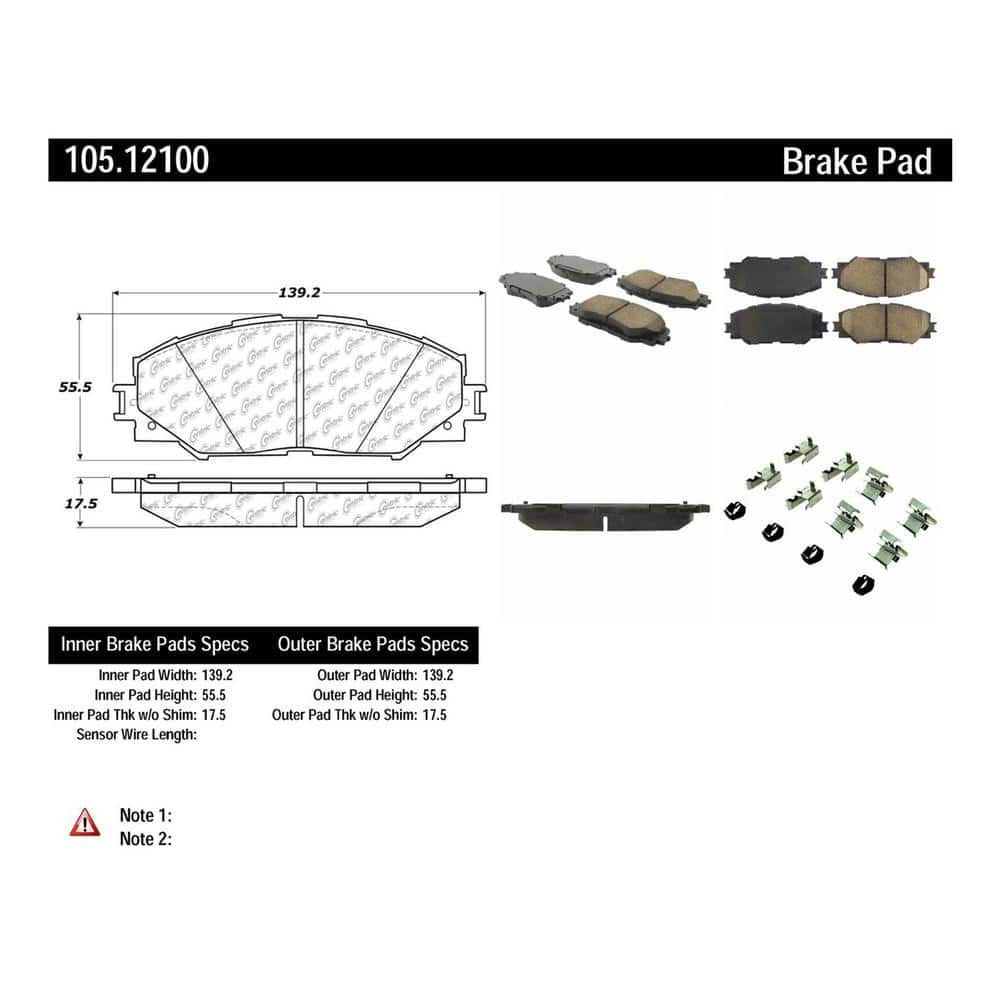 Centric Parts Disc Brake Pad Set P//N:103.07110