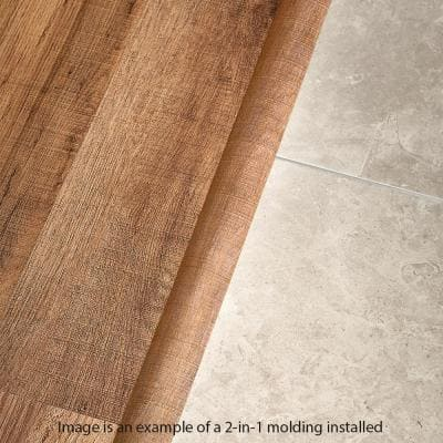 Gadwall Oak 0.37 in. T x 1.75 in. W x 78.7 in. L Vinyl 2-in-1 Molding