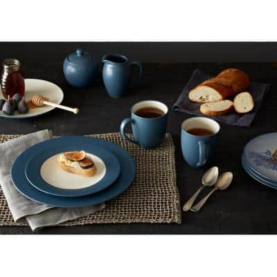 Colorwave Blue Stoneware Coupe Salad Plate 8-1/4 in.