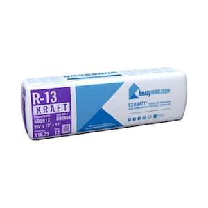 R-13 EcoBatt Kraft Faced Fiberglass Insulation Batt 3-1/2 in. x 15 in. x 93 in.