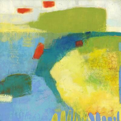 "72 in. x 72 in. ""Keswick IV"" by Sue Jachimiec Wall Art"