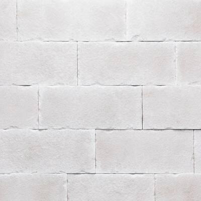 Versetta 36 in. x 8 in. Stone Carved Block Sea Salt Stone Veneer Corner Panel (6-Bundles per Box)