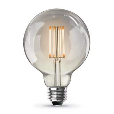 60-Watt Equivalent G30 Dimmable Cage Filament Clear Glass E26 Vintage Edison LED Light Bulb, Warm White