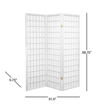 5 ft. White 3-Panel Room Divider