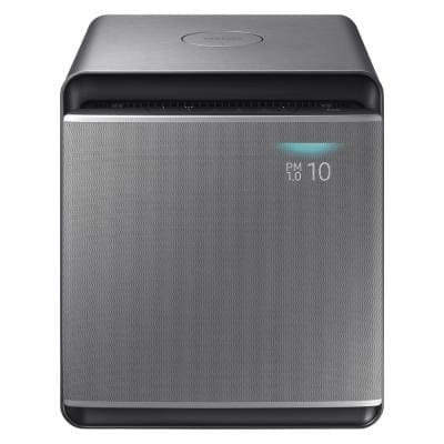 True HEPA 310 sq. ft. Cube Air Purifier with Wind-Free Purification in Silver
