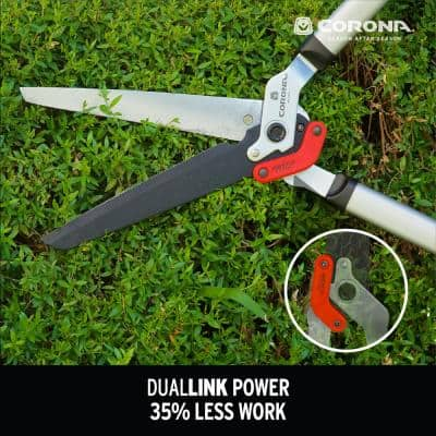 DualLINK 10 in. Non-Stick Coated Blade with Lightweight Steel Handles Extendable Hedge Shears