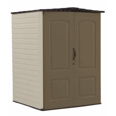 4 ft. 4 in. W x 6 ft. 5 in. H x 4 ft. 7 in. D Medium Vertical Resin Shed