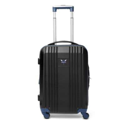 NBA Charlotte Hornets Luggage Carry-On 21 in. 100% ABS Hardcase 2-Tone Spinner