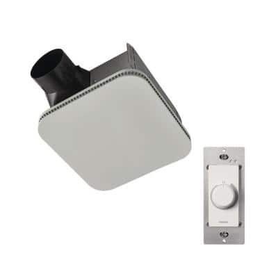 Roomside 110 CFM Ceiling Bathroom Exhaust Fan CleanCover with Infinitely Adjustable Speed Switch, ENERGY STAR