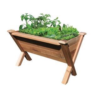 48 in. x 34 in. Rustic Cedar Modular Wedge Planter