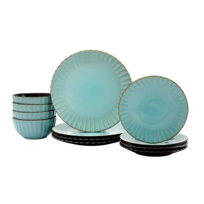 Juliette 12-Piece Caribbean Ceramic Dinnerware Set (Service for 4)