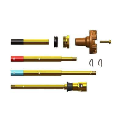 Adjustable Rod with Pressure Relief Valve to Prevent Bursting (10-Piece)