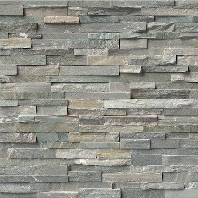 Sierra Blue Ledger Panel 6 in. x 24 in. Natural Quartzite Wall Tile (4 sq. ft./Case)