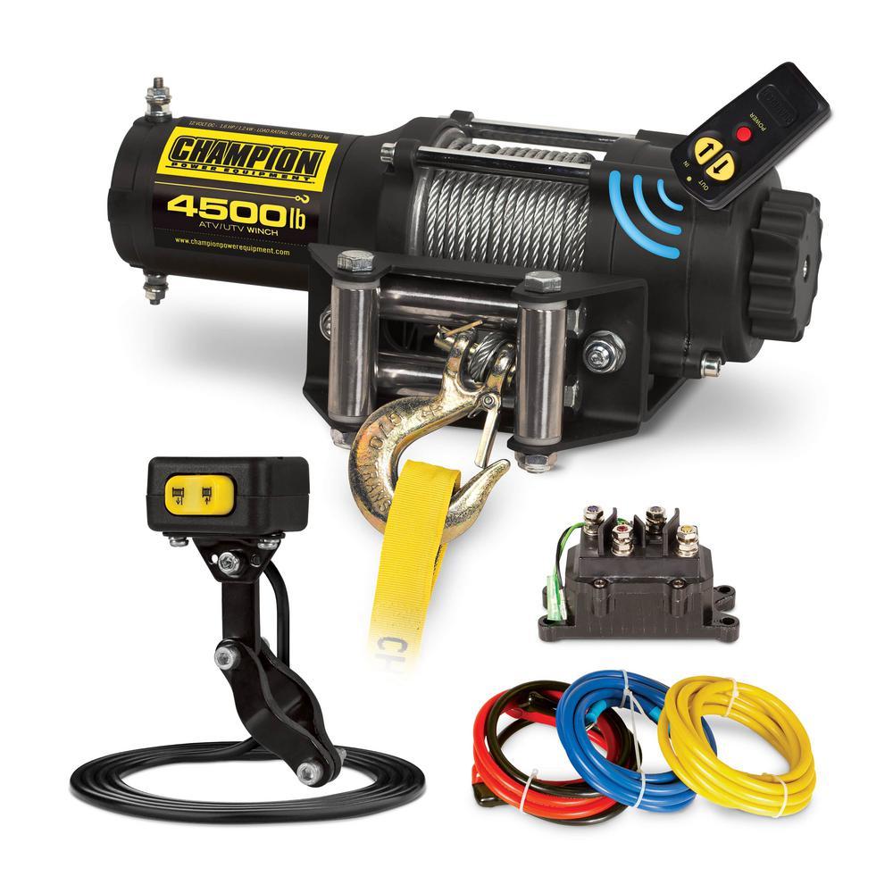 Power Equipment 4500 lbs. ATV/UTV Wireless Winch Kit