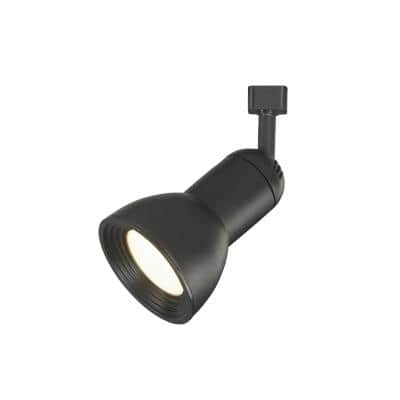 1-Light Black Integrated LED Medium-Step Linear Track Lighting Head