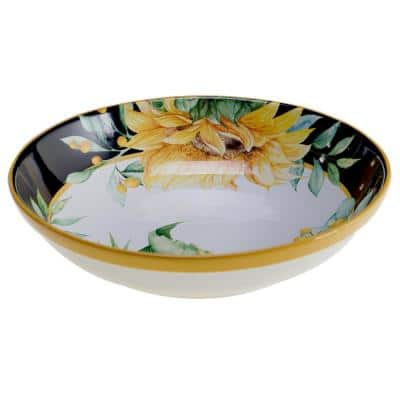 Sunflower Fields 13 in. Multicolored Serving/Pasta Bowl