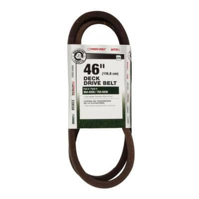 Original Equipment Deck Drive Belt for Select 46 in. Front Engine Garden Tractors OE# 954-0439 (2004 and Before)