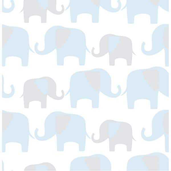 in GreyBlue Elephants on Parade