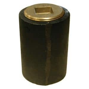 2 in. Pipe, 1-1/2 in. Plug Cast Iron Plain End Long Pattern Southern Code Cleanout with Raised Head (Low Square) for DWV