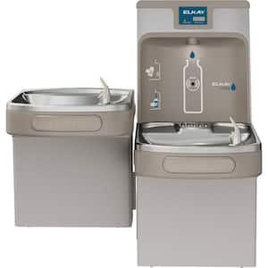 Filtered 8 GPH EZH2O ADA Light Gray Bi-Level Drinking Fountain with Bottle Filling Station