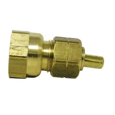 3/8 in. OD Compression x 1/2 in. FIP Brass Adapter Fitting