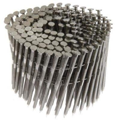 15-Degree 2 in. x 0.090 in. Wire Coil Ring Shank 304 Stainless Steel Siding Nails (3,600 per Box)