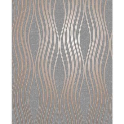 Valor Copper Wave Copper Wallpaper Sample