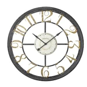 Oversized 46 in. Multistep Metal Frame Quartz Wall Clock