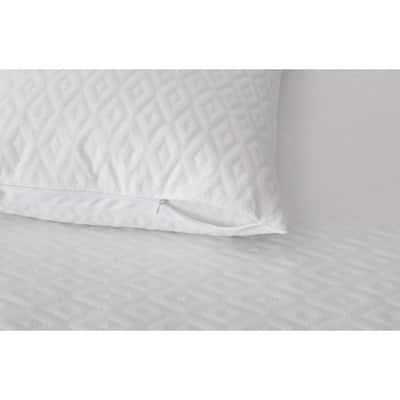 Microban Anti-Microbial White Mattress Protector + Pillow Protector (Set of 2)
