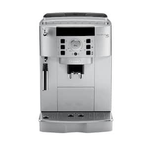 Magnifica XS Compact Fully Automatic Black and Silver Espresso Machine and Cappuccino Maker