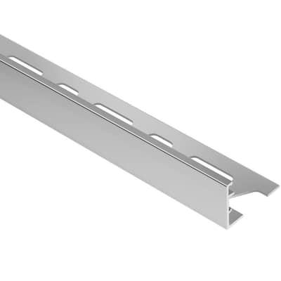 Schiene Aluminum 13/16 in. x 8 ft. 2-1/2 in. Metal L-Angle Tile Edging Trim