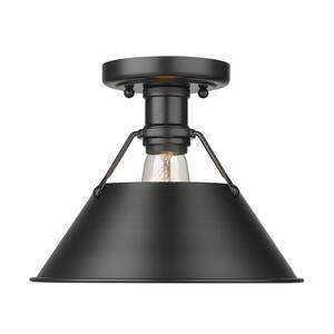 Orwell 10 in. 1-Light Matte Black Flush Mount